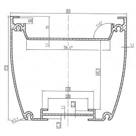 Профиль алюминиевый AL-078060 под заказ