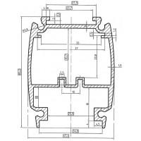 Профиль алюминиевый AL-078041 под заказ
