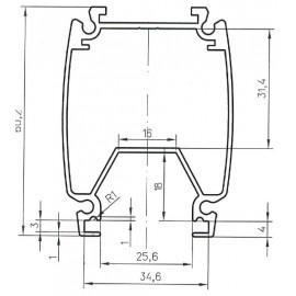 Профиль алюминиевый AL-078042 под заказ